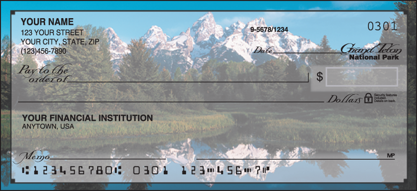 National Parks Scenic Personal Checks - 1 Box - Singles