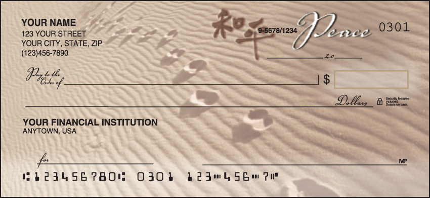 Natural Inspirations Scenic Personal Checks - 1 Box - Duplicates