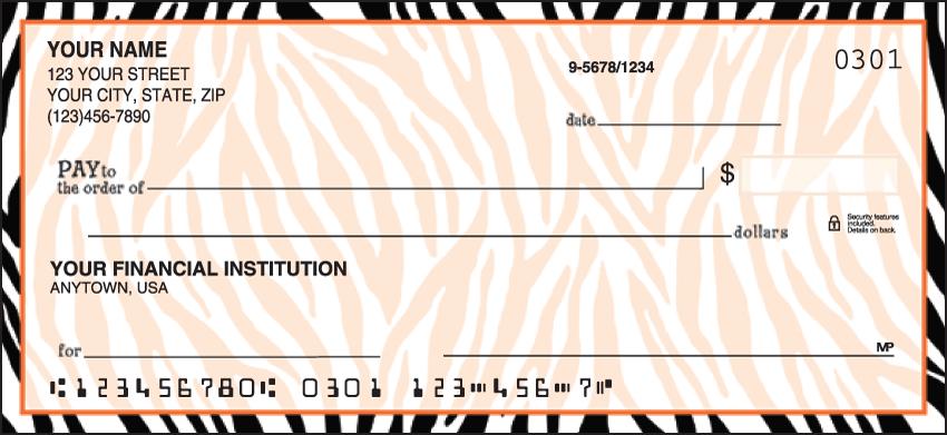 Neon Safari Animal Personal Checks - 1 Box - Duplicates