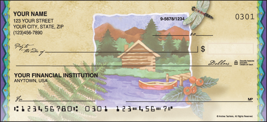 Northwoods Scenic Personal Checks - 1 Box - Singles
