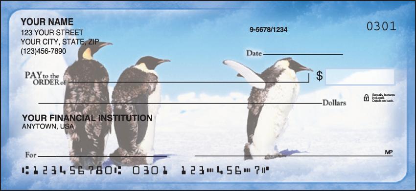 Penguin Parade Animal Personal Checks - 1 Box - Duplicates