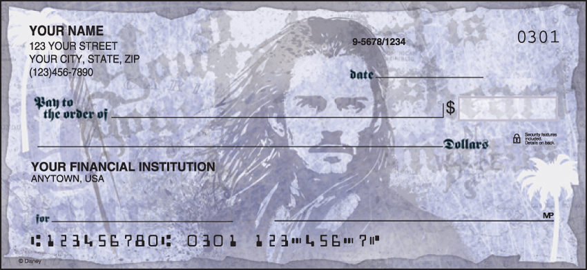 Pirates of the Caribbean Disney Personal Checks - 1 Box - Duplicates