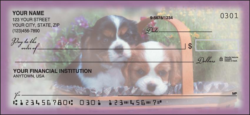 Playful Pups Animal Personal Checks - 1 Box - Duplicates