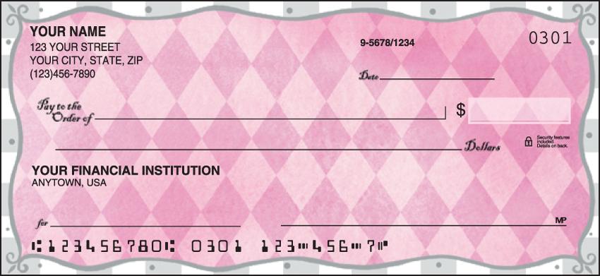 Pretty in Pink Girly Personal Checks - 1 Box - Duplicates