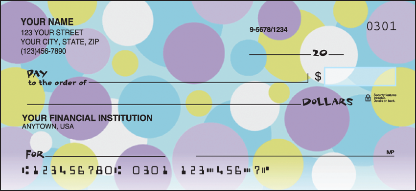Retro Graphics Pattern Personal Checks - 1 Box