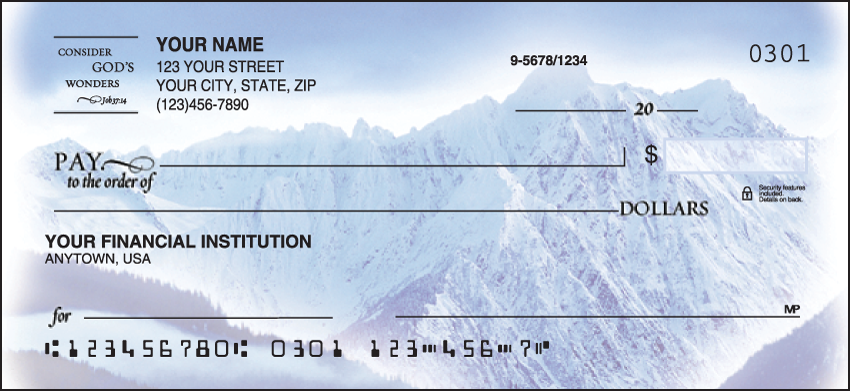 Scripture Religious Personal Checks - 1 Box - Duplicates