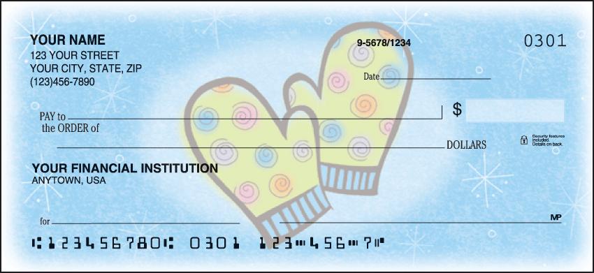 Snow Days Holiday Personal Checks - 1 Box - Duplicates