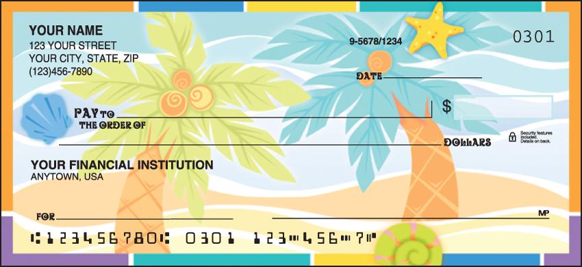 Sunny Days Scenic Personal Checks - 1 Box - Duplicates
