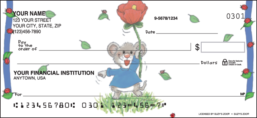 Suzy's Zoo Animal Personal Checks - 1 Box - Duplicates