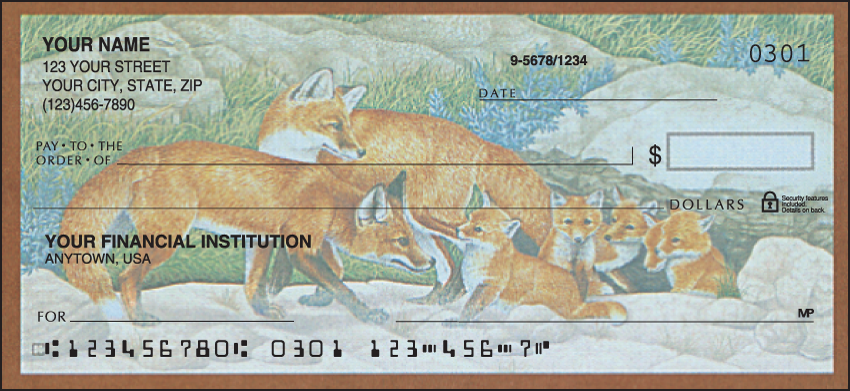 Wildlife Adventure Animal Personal Checks - 1 Box - Duplicates