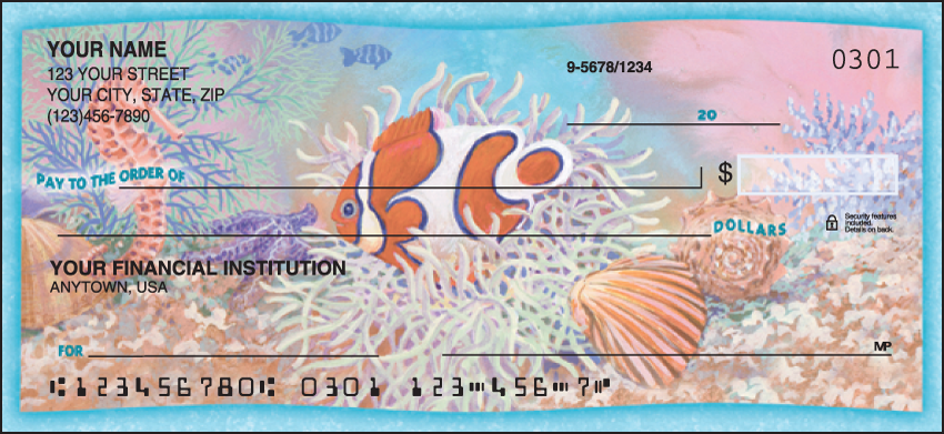 Wonders of the Sea Scenic Personal Checks - 1 Box