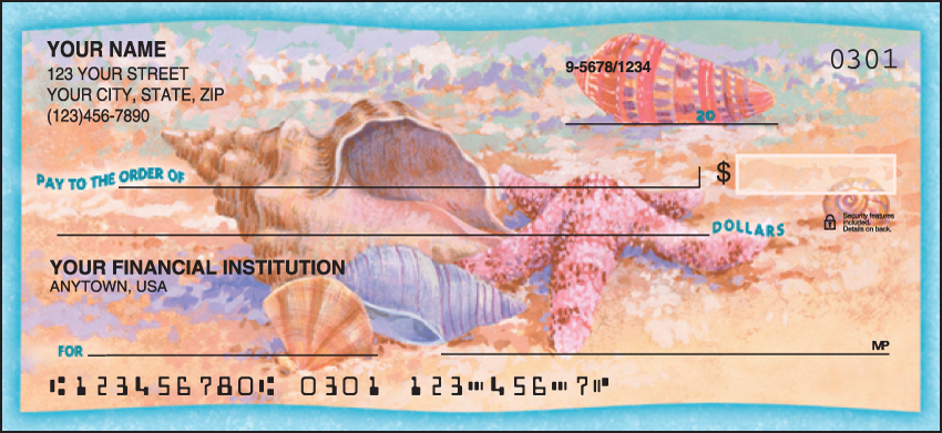 Wonders of the Sea Scenic Personal Checks - 1 Box - Duplicates