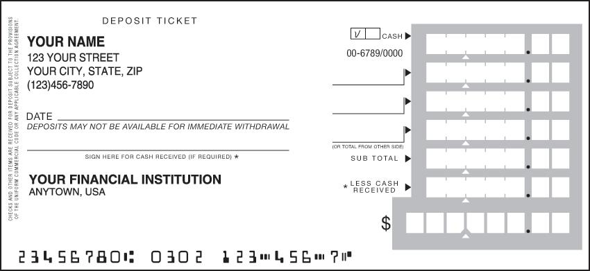 Deposit Tickets - Order Bank Deposit Slips | Checks.com