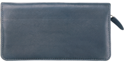 Black Zippered Leather Checkbook Cover