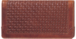 Woven Leather Checkbook Cover