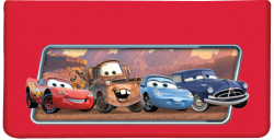 Disney Pixar Cars Red Checkbook Cover - click to view product detail page