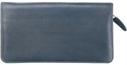 Elite Zippered Black Checkbook Cover