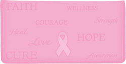 Hope for the Cure Pink Leather Checkbook Cover - click to view product detail page