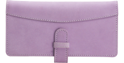 Lavender Leather Checkbook Cover