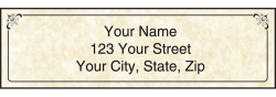Parchment Monogram Address Labels - click to view product detail page