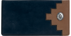Southwestern Black Checkbook Cover