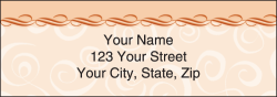 Savvy Swirls Peach Address Labels