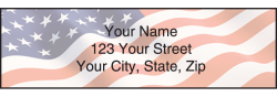 Stars & Stripes Address Labels - click to view product detail page