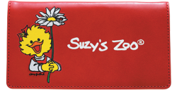 Suzy Ducken Red Leather Checkbook Cover