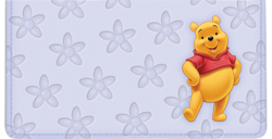 Disney Winnie the Pooh Lavender Checkbook Cover  - click to view product detail page