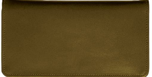 Chocolate Brown Checkbook Cover - enlarged image