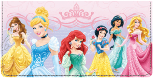 Disney Princess Checkbook Cover - enlarged image