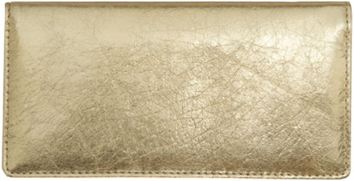 Gold Metallic Checkbook Cover - enlarged image