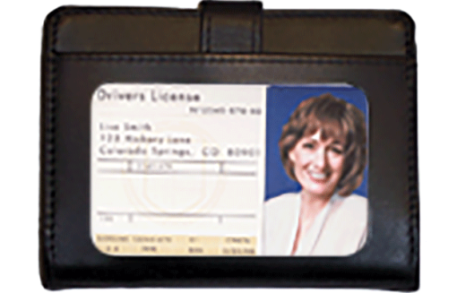 Black Leather Debit Organizer - enlarged image