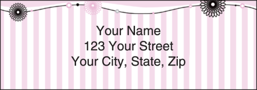 Pretty in Pink Labels - enlarged image