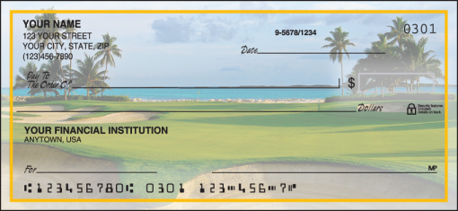 Golf Escapes Checks - enlarged image